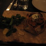 butternut squash & goat cheese tart at Vinegar Hill House